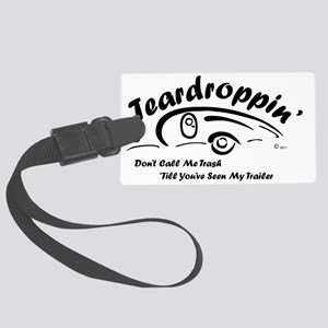 Teardrop with Words4 [Converted] Large Luggage Tag